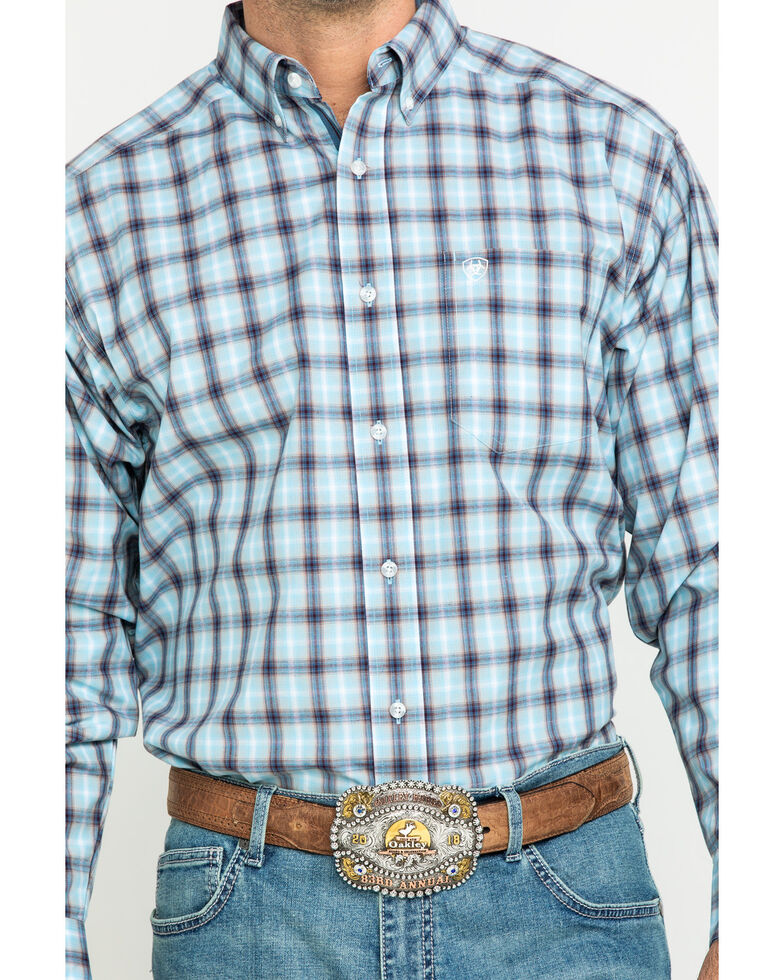 Ariat Men's Lathrop Multi Plaid Long Sleeve Western Shirt - Tall , Multi, hi-res