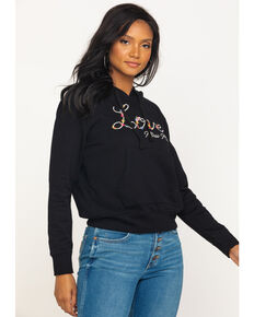 Miss Me Women's Love Hoodie, Black, hi-res
