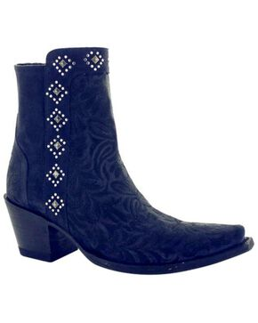 Old Gringo Women's Wink Dark Blue Booties - Snip Toe , Blue, hi-res