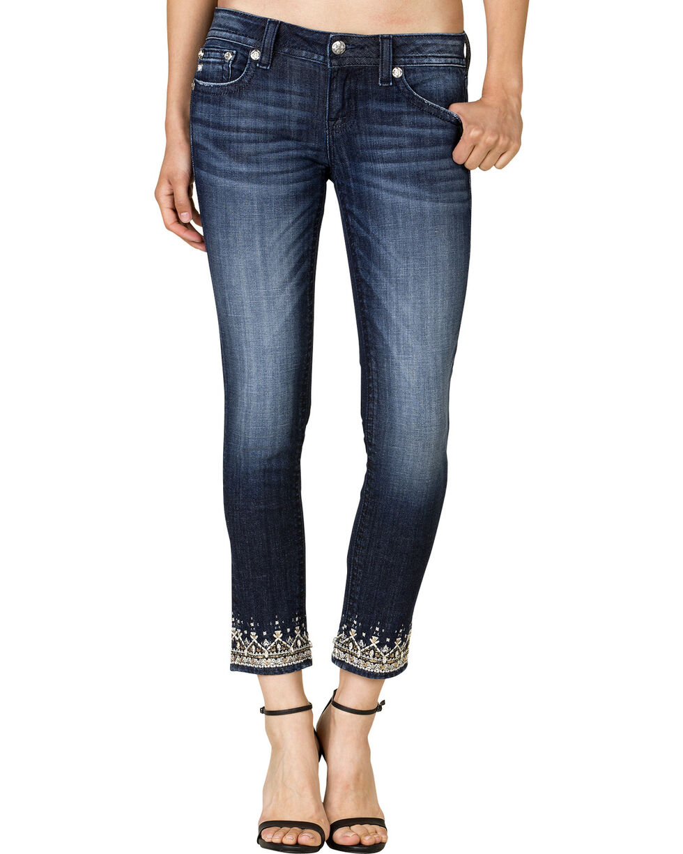 Miss Me Women's Regal Realness Ankle Skinny Jeans, Blue, hi-res