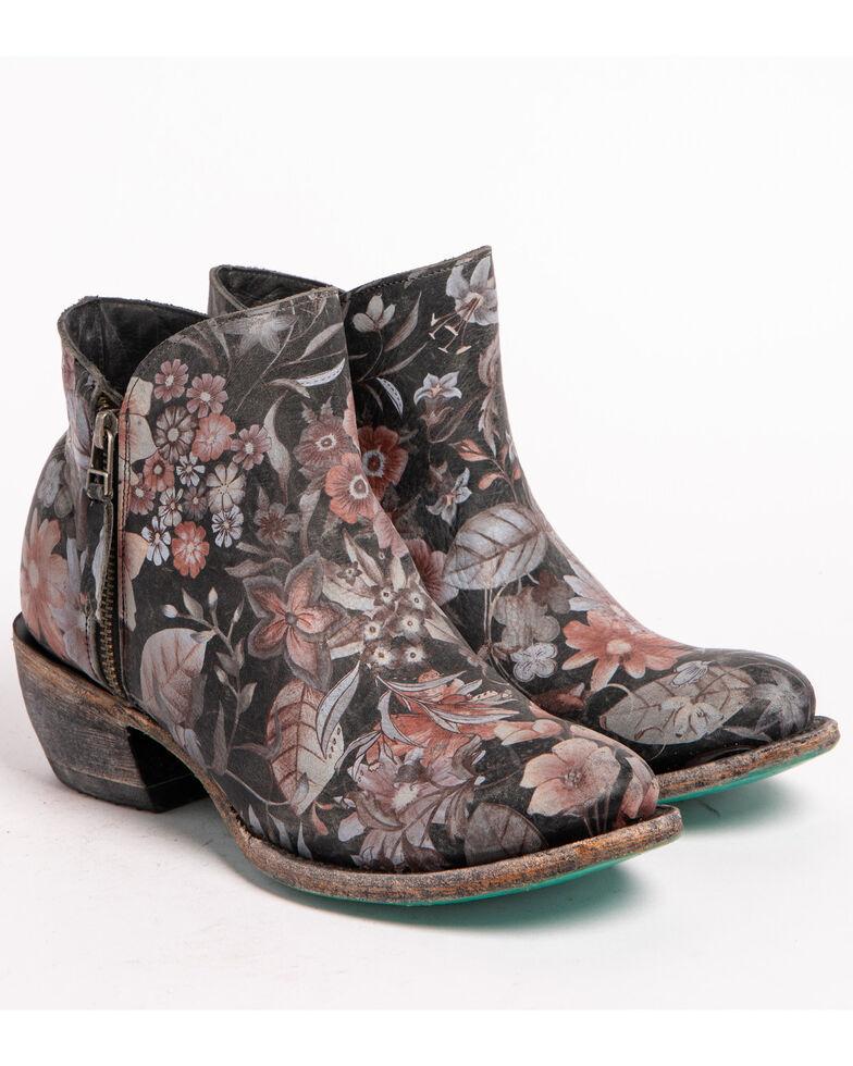 Lane Women's Black Moonflower Booties - Round Toe , Black, hi-res