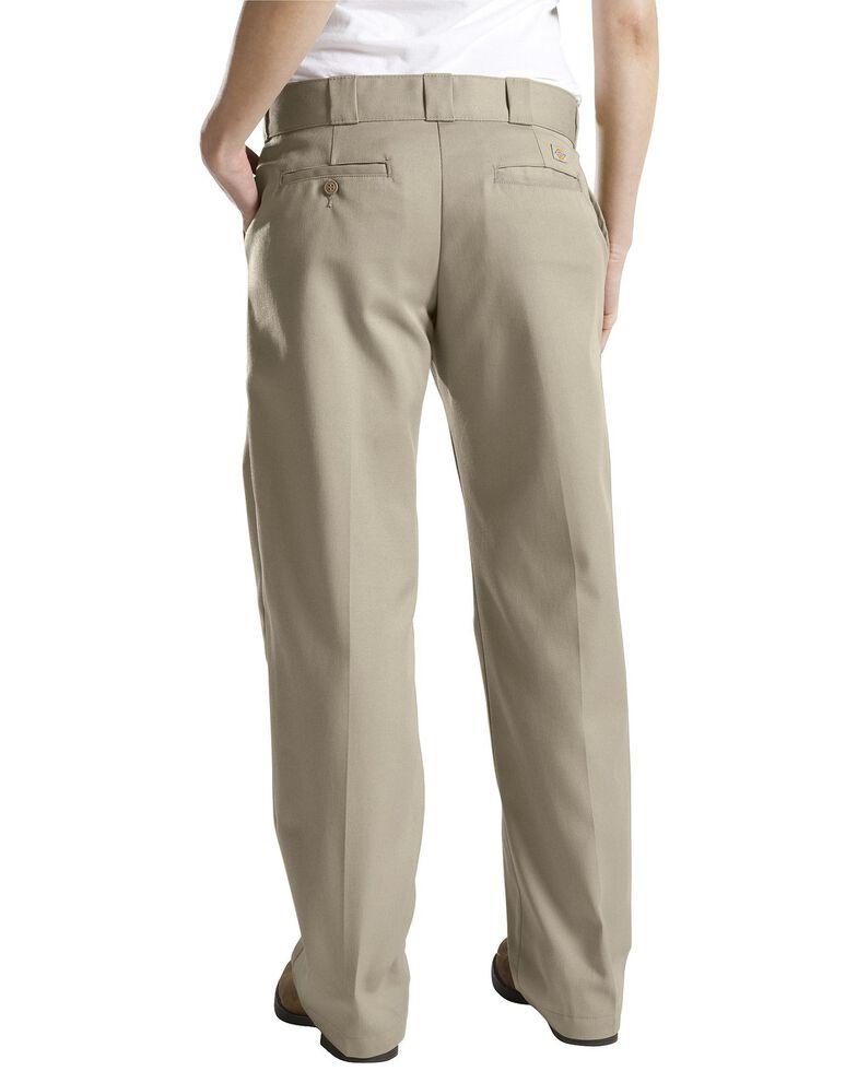 Dickies Women's Classic Straight Leg Twill Pants, Khaki, hi-res