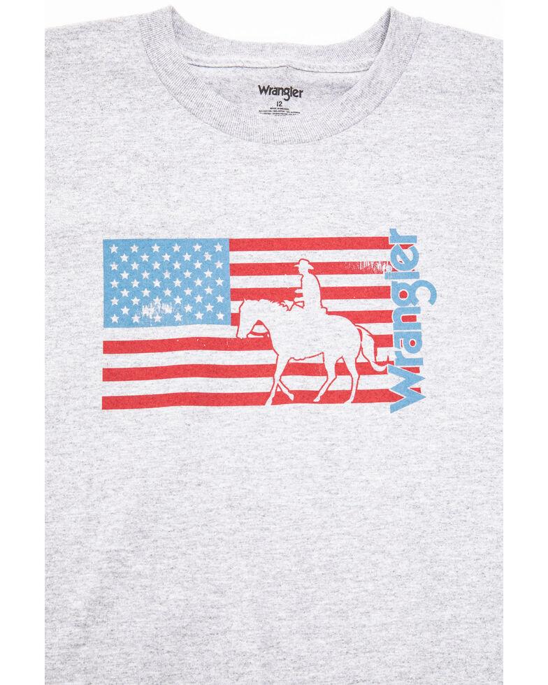 Wrangler Boys' Flag Horse American Flag Graphic T-Shirt , , hi-res