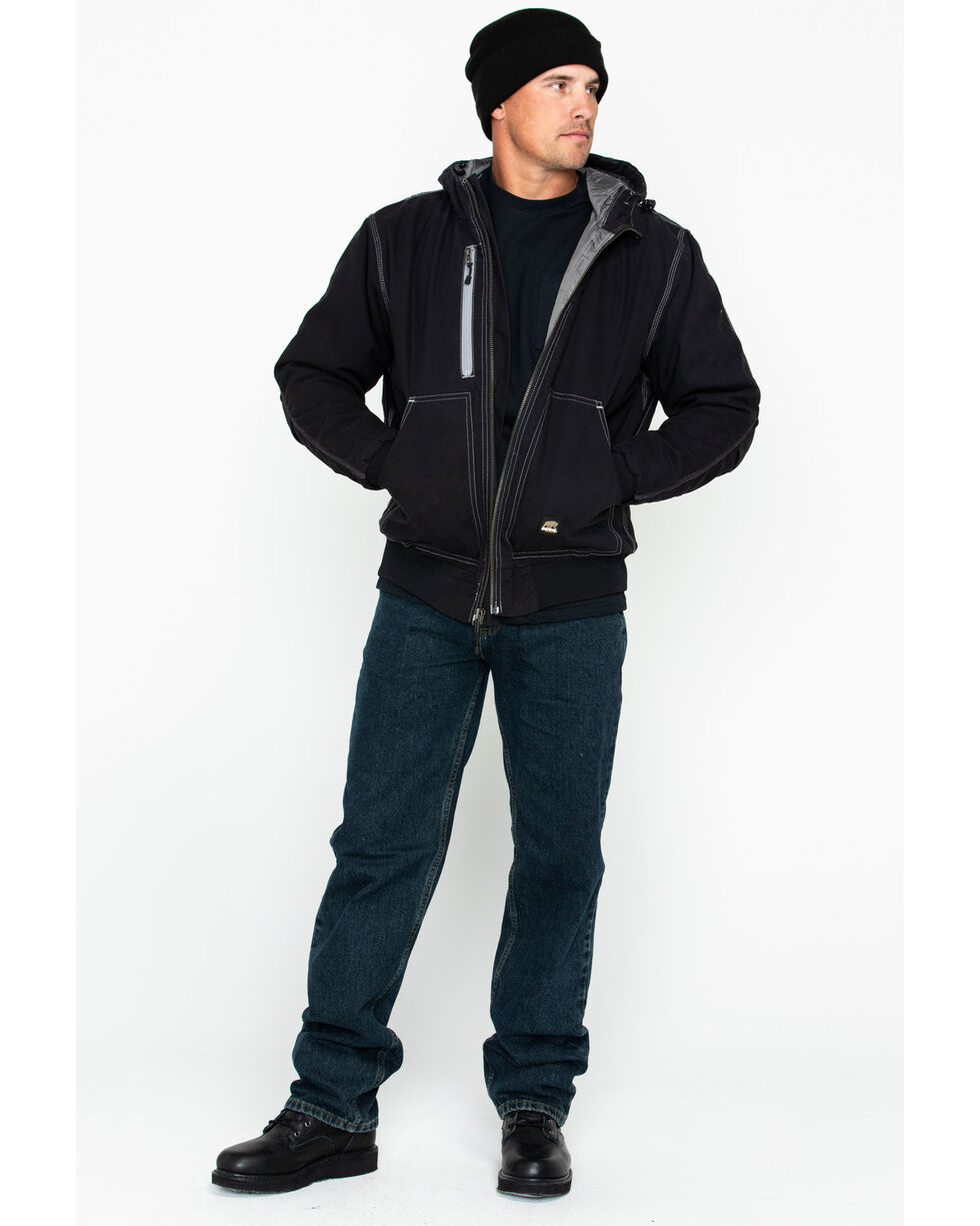 Berne Men's Solid Modern Hooded Work Jacket , Black, hi-res