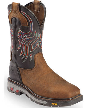 Justin Men's Commander 5X Steel Toe Western Work Boots, Timber, hi-res
