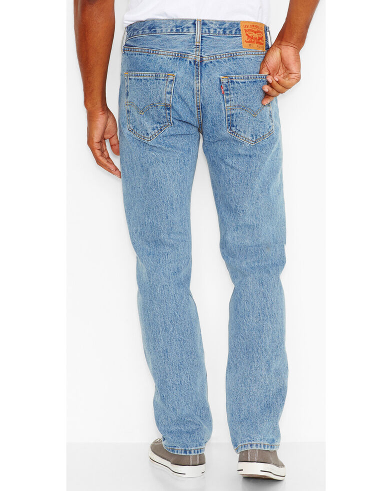 Levi's Men's 501 Original Fit Stonewashed Regular Straight Leg Jeans, Blue, hi-res