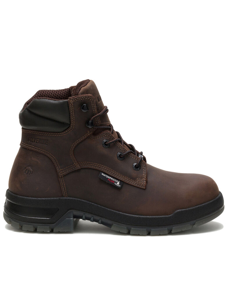 Wolverine Men's Dark Brown Ramparts Work Boots - Soft Toe, Dark Brown, hi-res