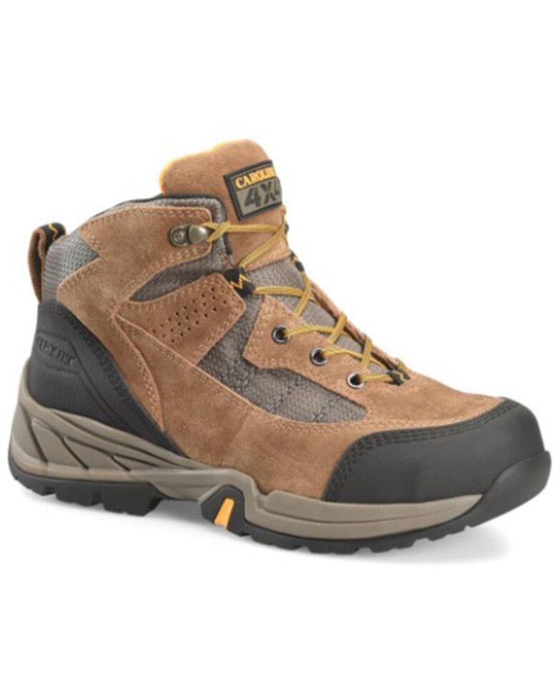 Carolina Men's Brown Granite Aerogrip Hiking Boots - Steel Toe, Brown, hi-res