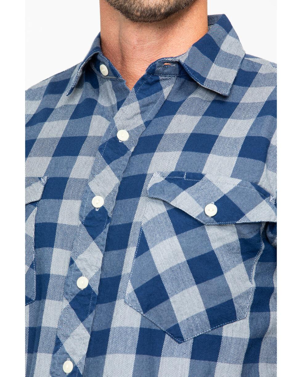 Resistol Men's Marlin Check Long Sleeve Flannel Shirt , Navy, hi-res