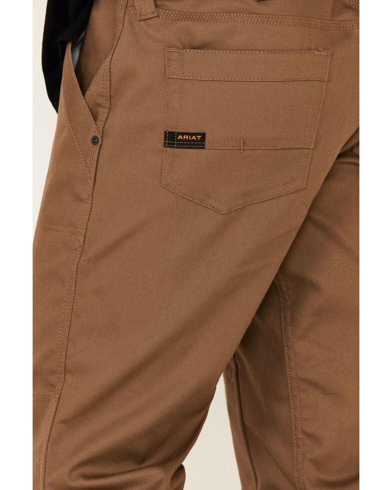 Ariat Men's Rebar M4 Stretch Canvas Utility Pants - Straight Leg , Beige/khaki, hi-res