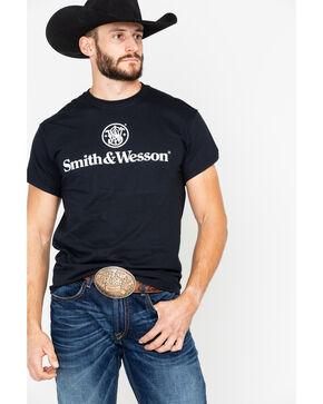 Smith & Wesson Men's Black Stacked Logo T-Shirt , Black, hi-res