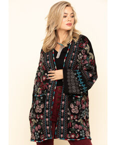 Johnny Was Women's Black Aya Kimono, Black, hi-res