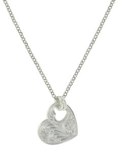 Montana Silversmiths Women's You Have My Heart Necklace, Silver, hi-res
