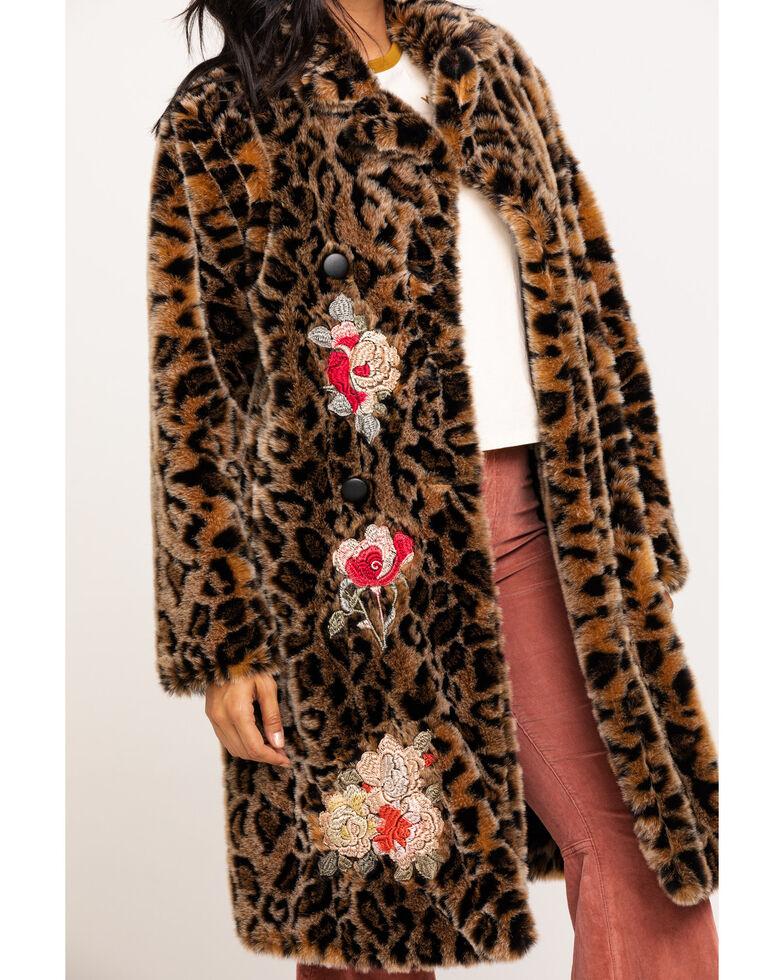Johnny Was Women's Eeshal Leopard Coat, Leopard, hi-res