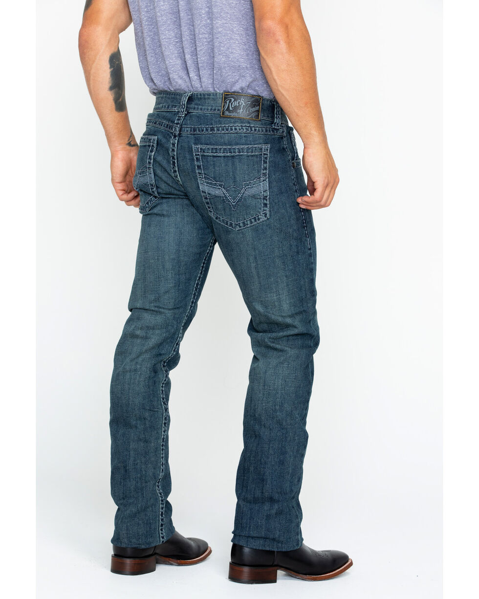 Wrangler Rock 47 Men's Slim Fit Straight Leg Jeans , Dark Blue, hi-res