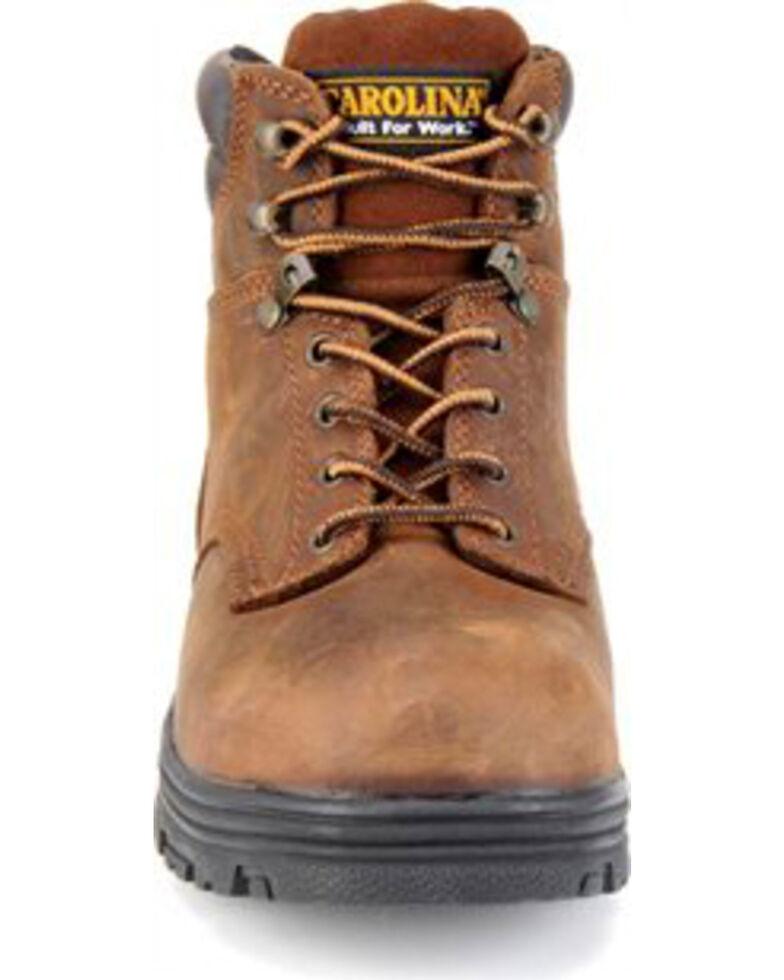 Carolina Men's Brown Waterproof Workboots - Round Toe, Brown, hi-res