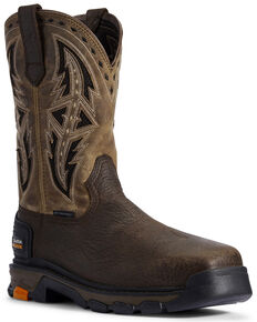 Ariat Men's Intrepid VentTek Spear Western Work Boots - Composite Toe, Brown, hi-res
