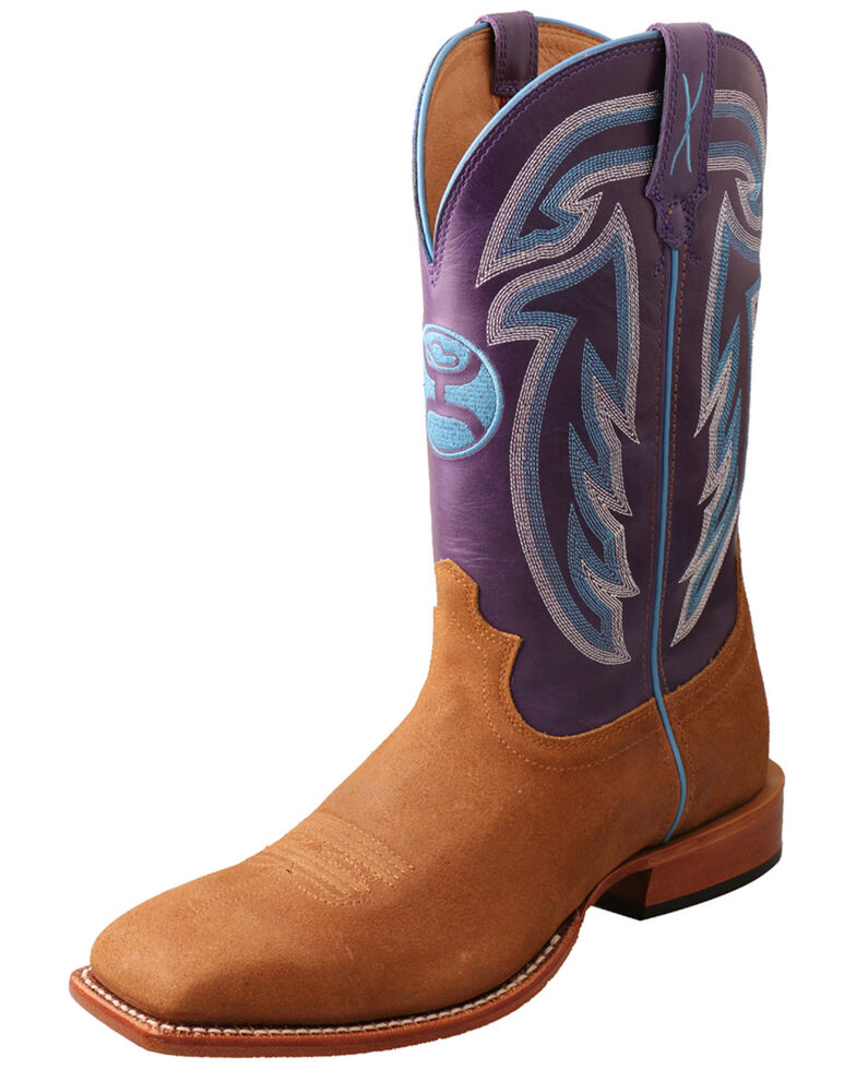 Twisted X Men's Hooey Western Boots - Wide Square Toe, Chocolate, hi-res