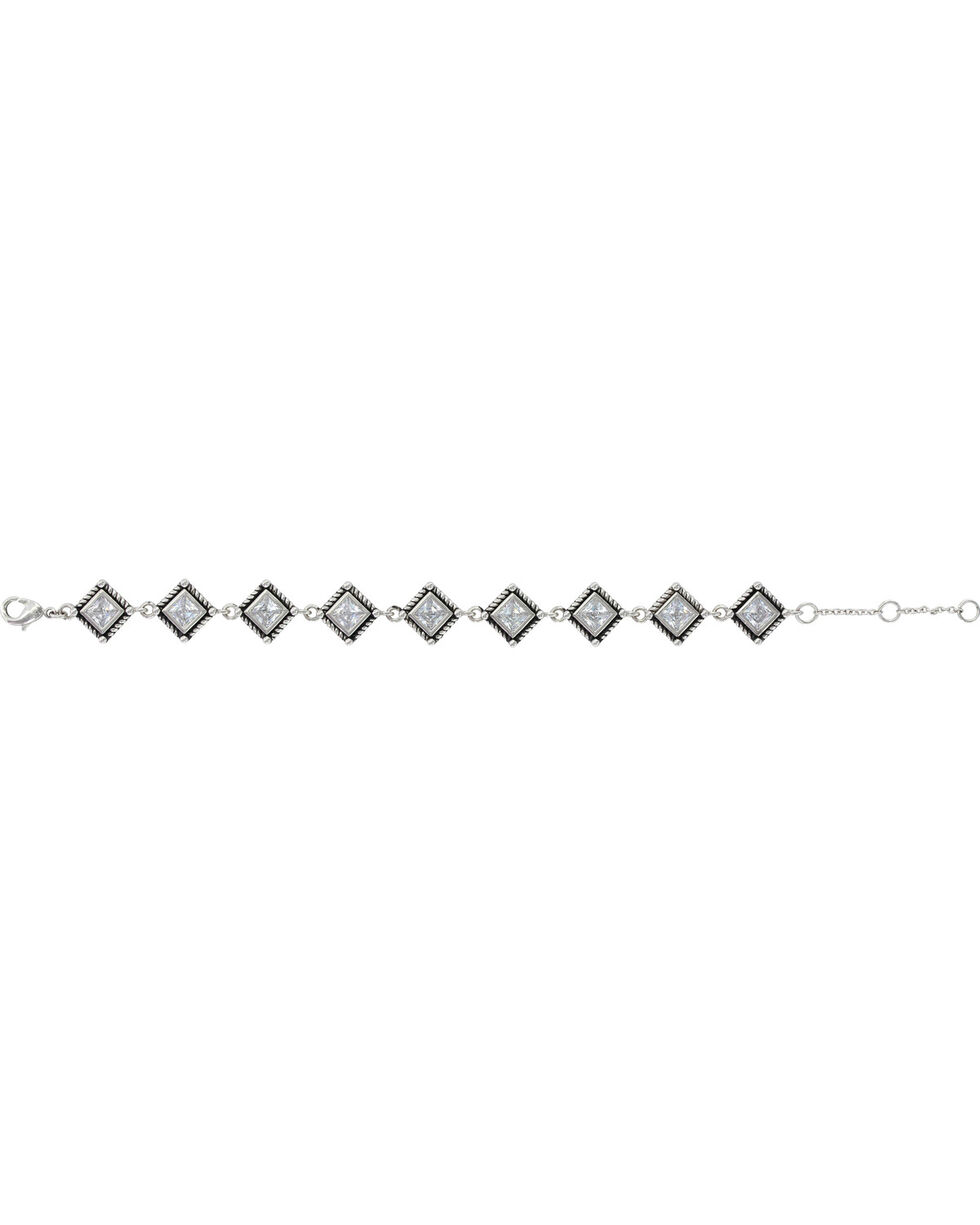 Montana Silversmiths Women's Roped Star Lights Bracelet, Silver, hi-res