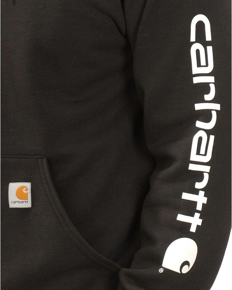 Carhartt Men's Hooded Logo-Sleeve Sweatshirt, Black, hi-res