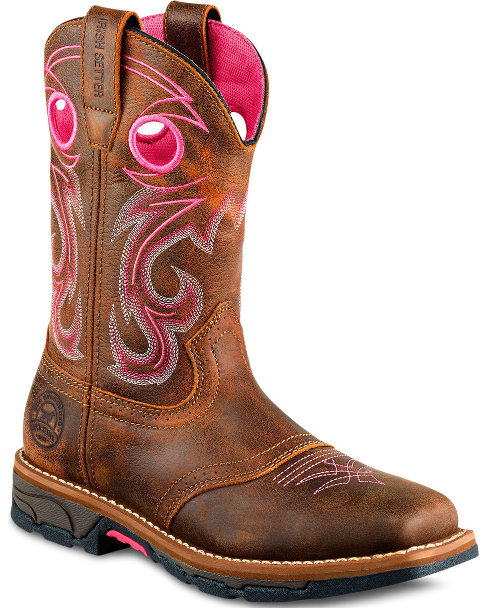 Irish Setter by Red Wing Shoes Women's Marshall Pink Work Boots - Steel Toe , , hi-res