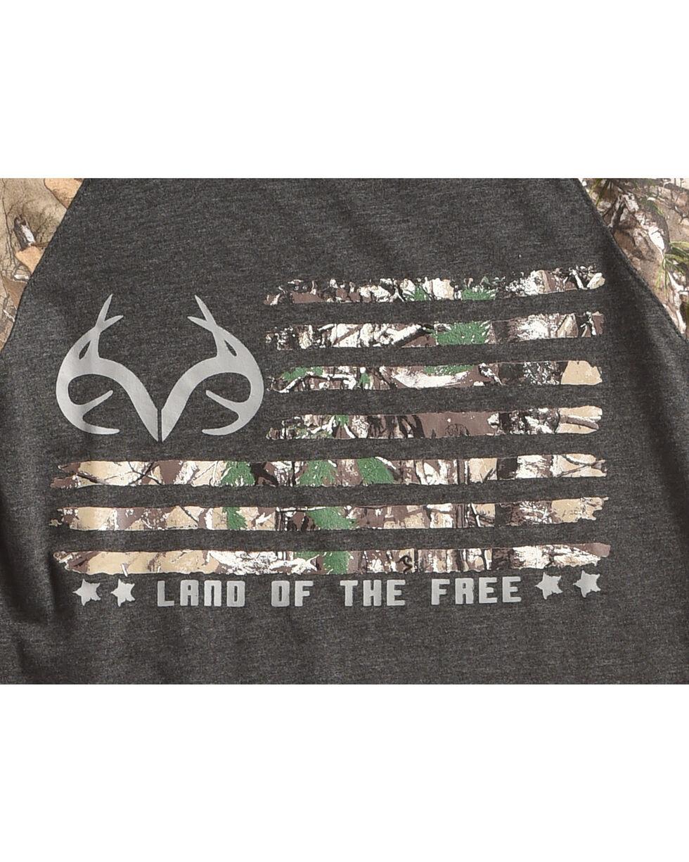 "Realtree Boys' Camo ""Land of the Free"" Long Sleeve T-Shirt , Black, hi-res"