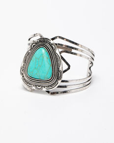 Shyanne Women's Blue Falls Extravaganza Turquoise Cuff, Silver, hi-res