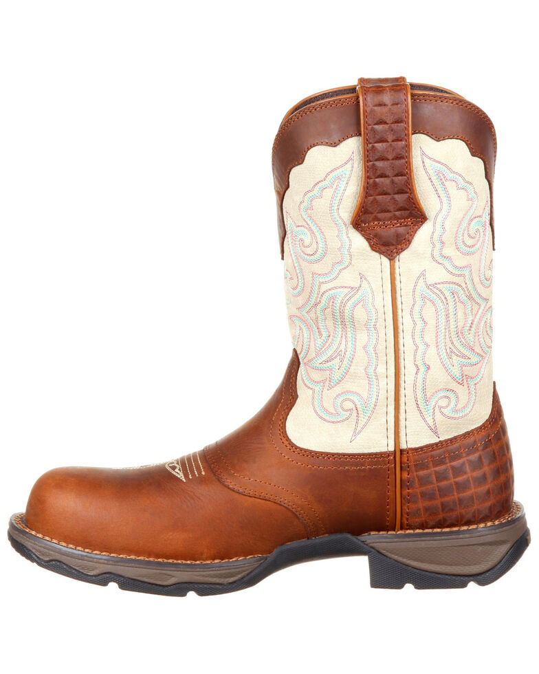 6cde85f2a23 Durango Women's Lady Rebel Saddle Western Work Boots - Composite Toe