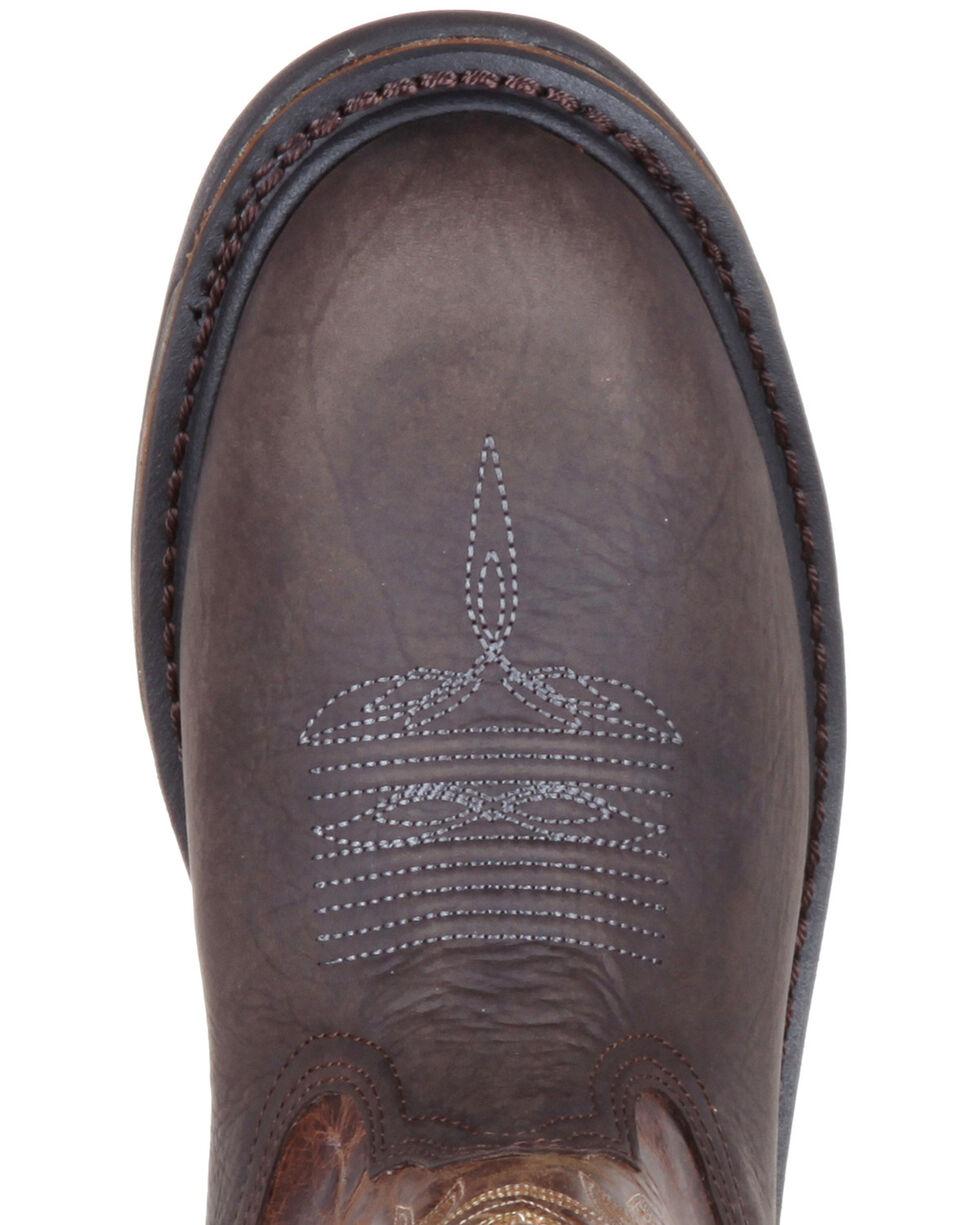 Rocky Men's Iron Skull Waterproof Western Boots - Round Toe, Dark Brown, hi-res