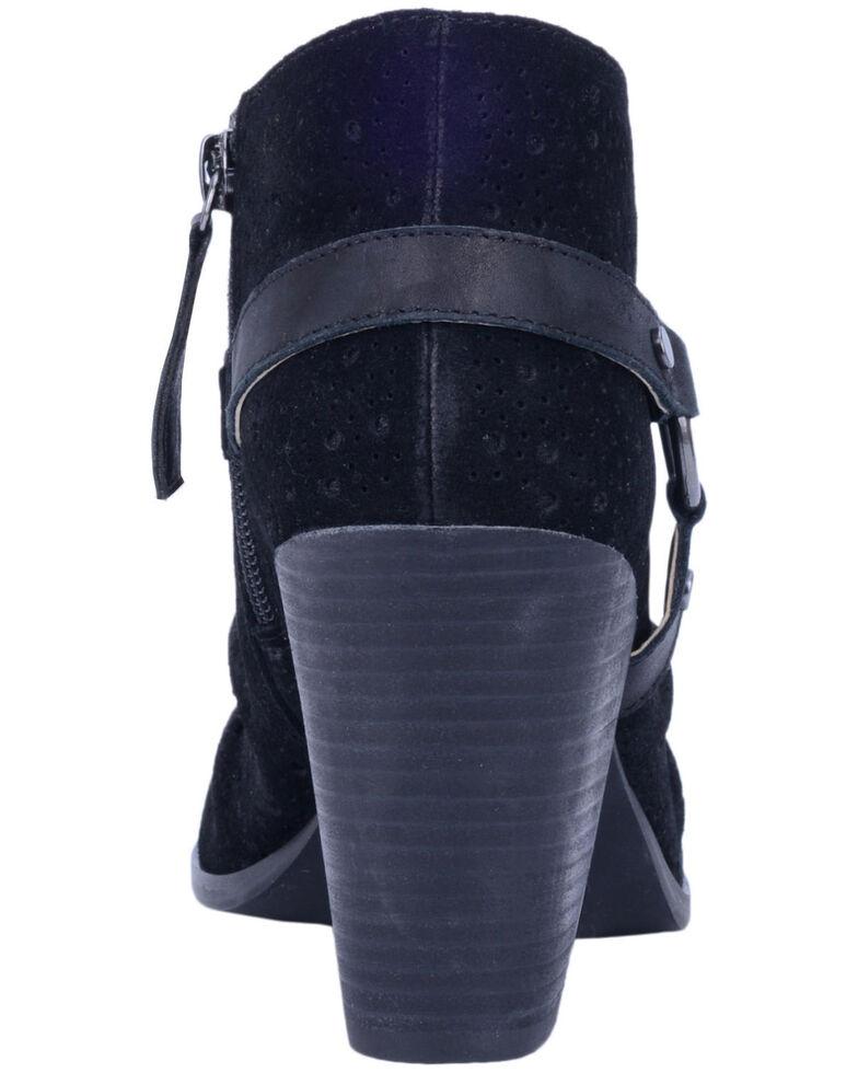 Dingo Women's Spurs Peep Toe Fashion Booties - Round Toe, Black, hi-res
