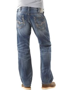 b4a1abb5ff0 Silver Zac Relaxed Fit Straight Leg Jeans