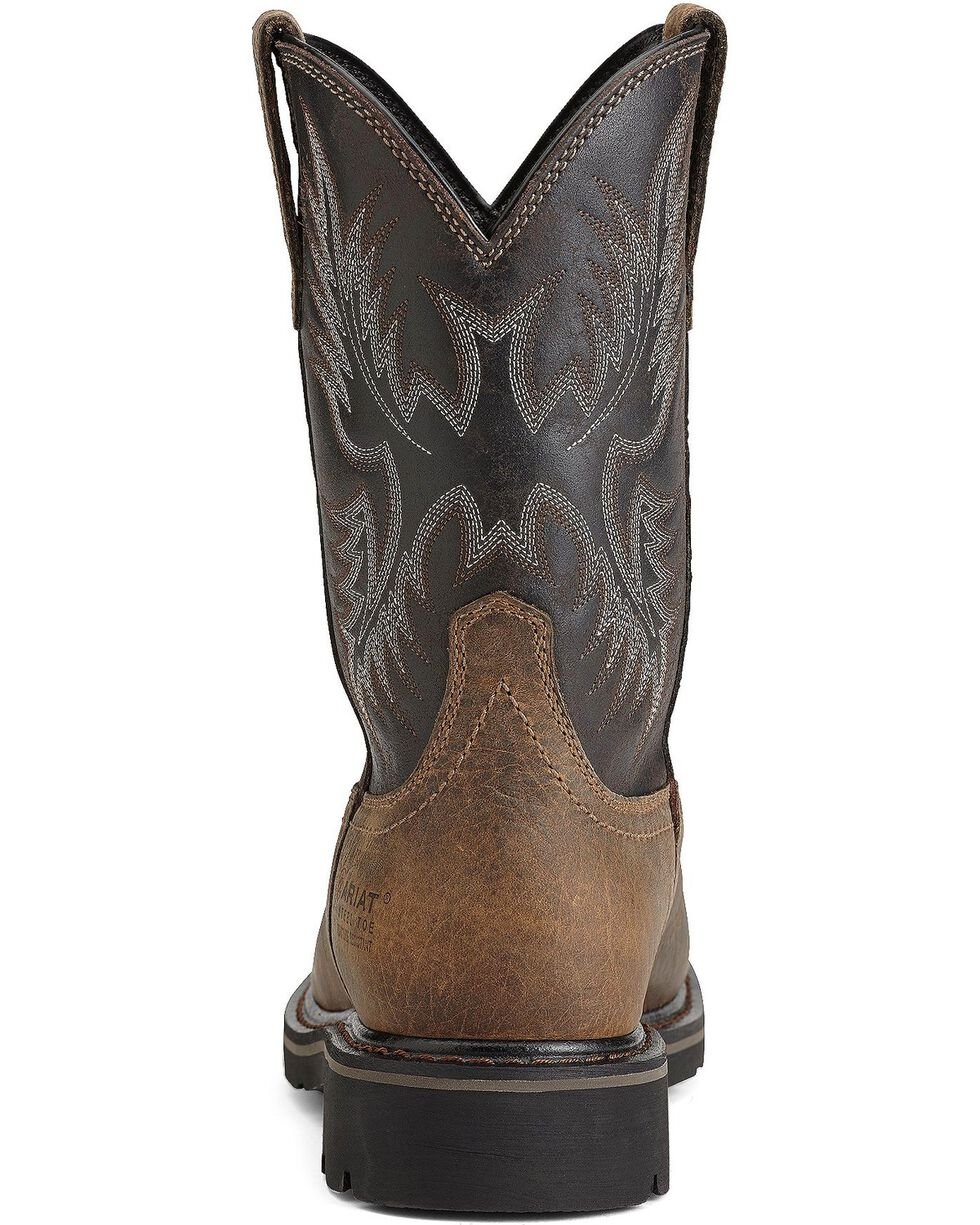 Ariat Men's Sierra Wide Square Steel Toe Work Boots, Earth, hi-res