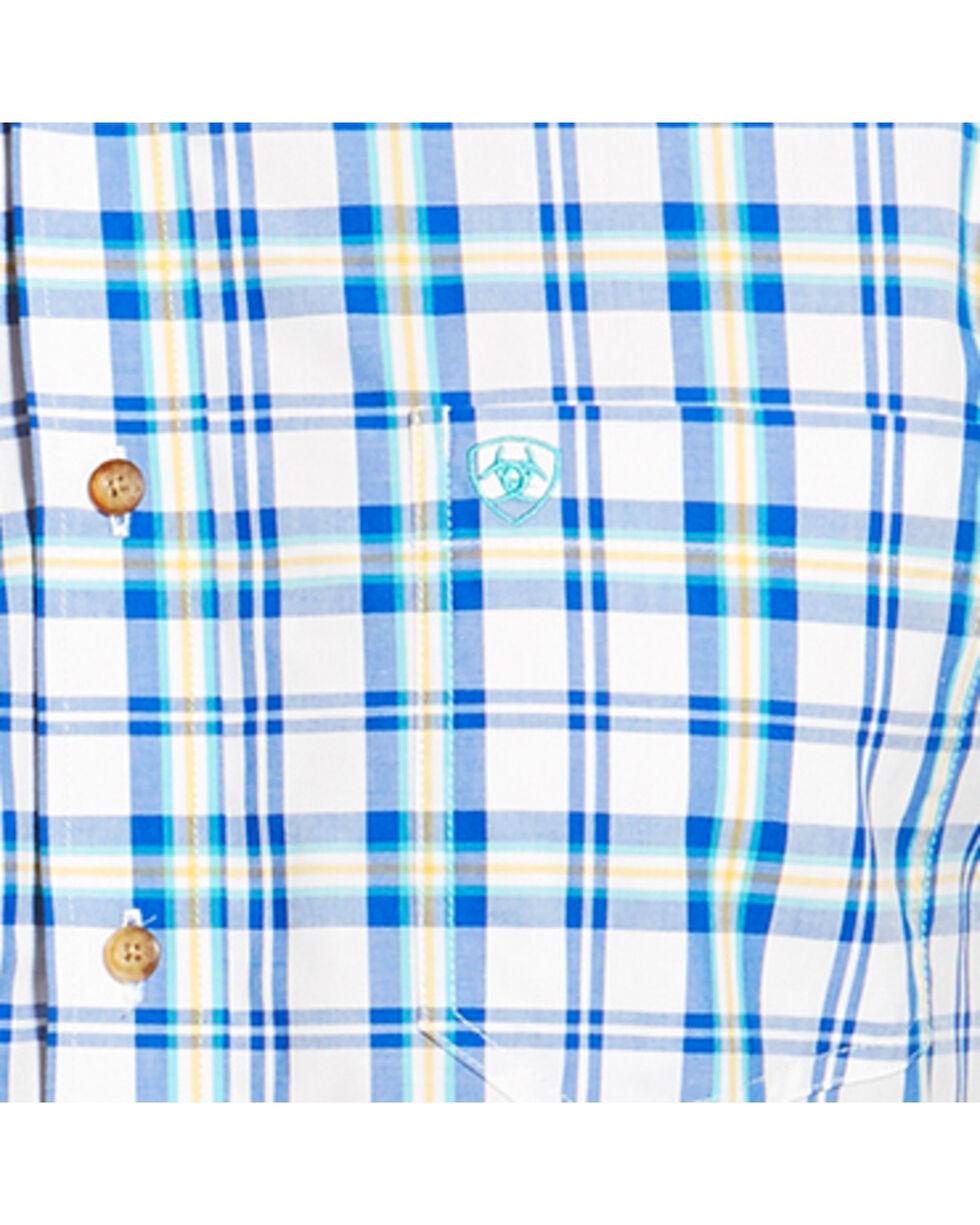 Ariat Men's Blue Isaac Long Sleeve Shirt , , hi-res