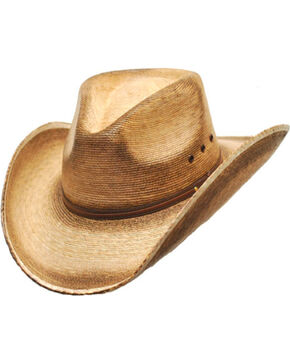 Western Express Men's Fritz Palm Leaf Cowboy Hat, Tan, hi-res
