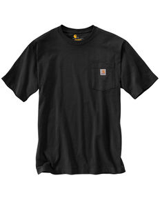 Carhartt Men's Solid Short Sleeve Pocket Work T-Shirt - Big & Tall, Black, hi-res