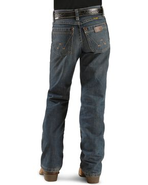 Wrangler Boy's Retro Relaxed Fit Boot Cut Jeans, Denim, hi-res
