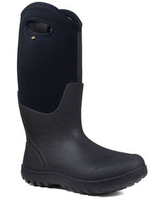 Bogs Women's Neo-Classic Insulated Work Boots - Round Toe, Black, hi-res