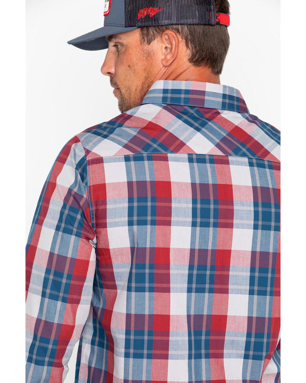 Browning Men's Powell Plaid Long Sleeve Shirt , Blue, hi-res