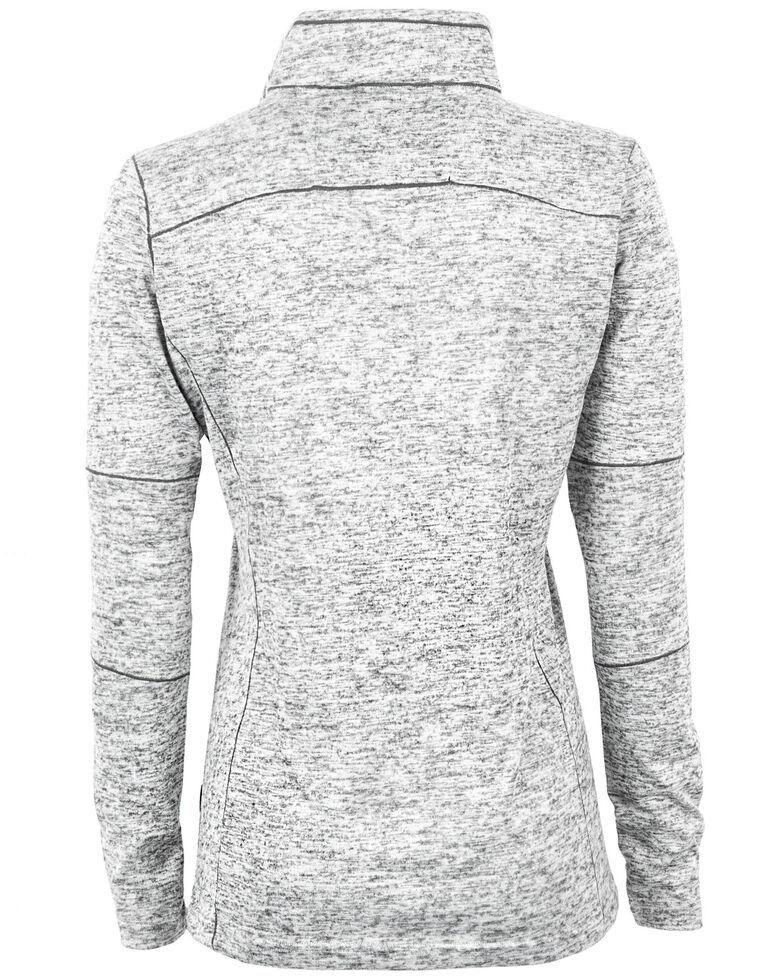 STS Ranchwear Women's Quarter Zip Lightweight Base Layer Jacket, Heather Grey, hi-res