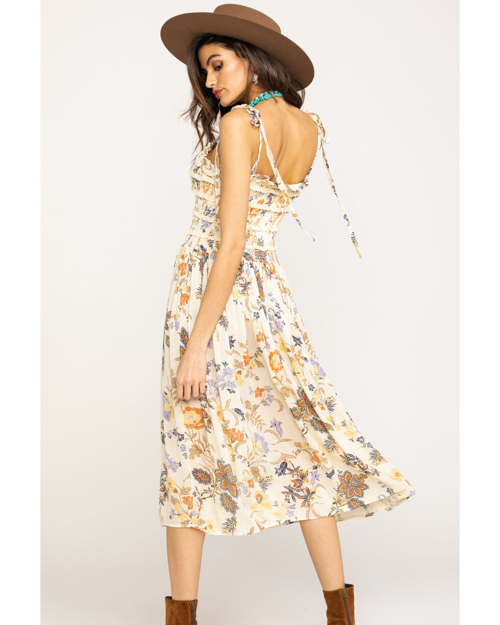 Free People Women's Isla Midi Dress, Ivory, hi-res