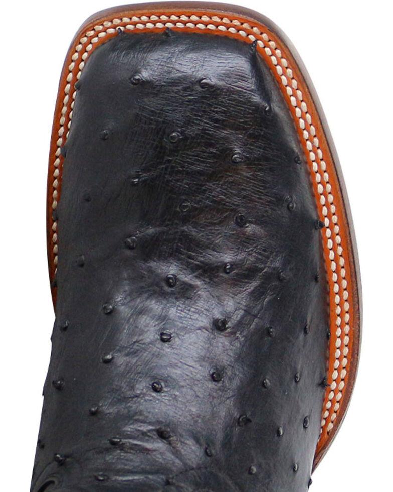Cody James® Men's Full Quill Ostrich Exotic Boots, Black, hi-res