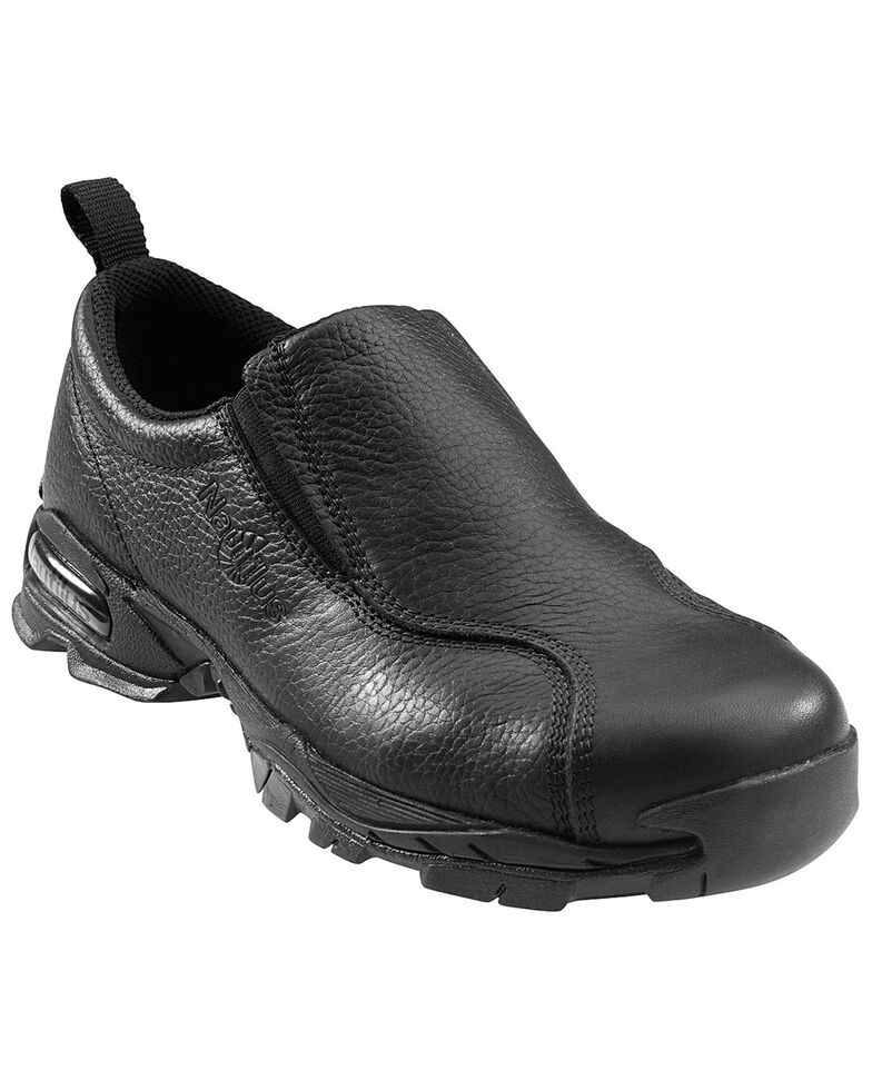 Nautilus Men's Black ESD Slip-On Work Shoes, Black, hi-res