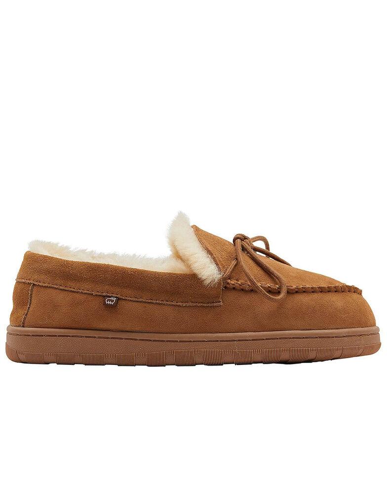 Lamo Footwear Women's Doubleface Moccasin Slippers, Chestnut, hi-res