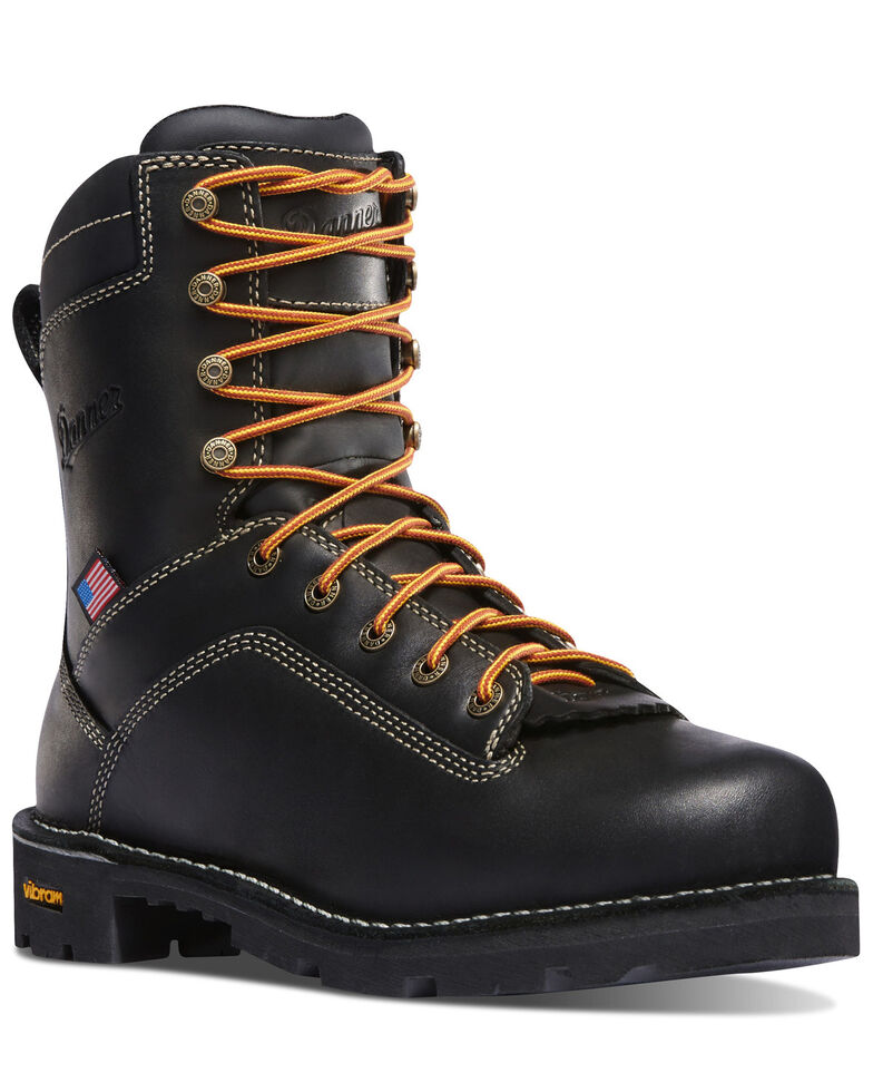 Danner Men's Quarry USA Work Boots - Alloy Toe, Black, hi-res