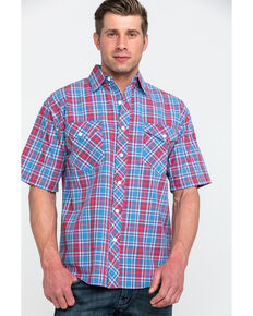 Resistol Men's Yosemite Small Plaid Short Sleeve Western Shirt , Multi, hi-res