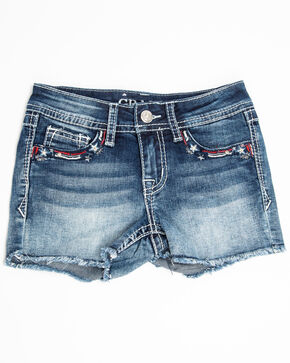 Grace in LA Girls' Americana Shorts, Blue, hi-res