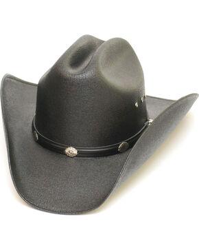 Western Express Men's Black Cattleman Straw Hat , Black, hi-res