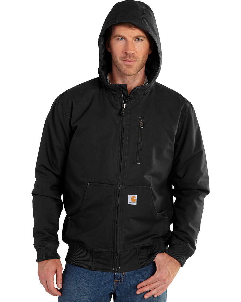 Carhartt Men's Quick Duck Jefferson Active Jacket, Black, hi-res