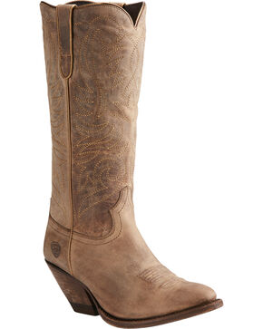 Ariat Women's Tan Shindig Weathered Boots - Medium Toe , Tan, hi-res