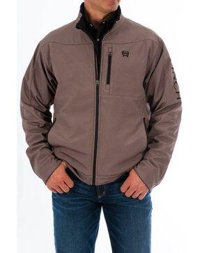Cinch Men's Hounds Tooth Puffer Bonded Zip-Up Jacket , Grey, hi-res